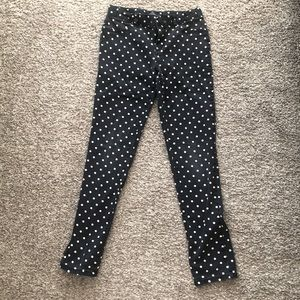 ⭐️5x$25 / Navy blue polka dots girls jeggings